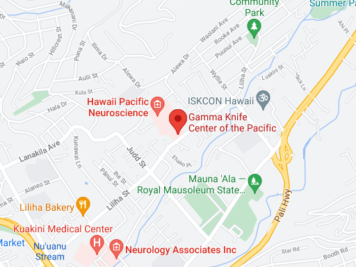 Gamma Knife Center of the Pacific Map